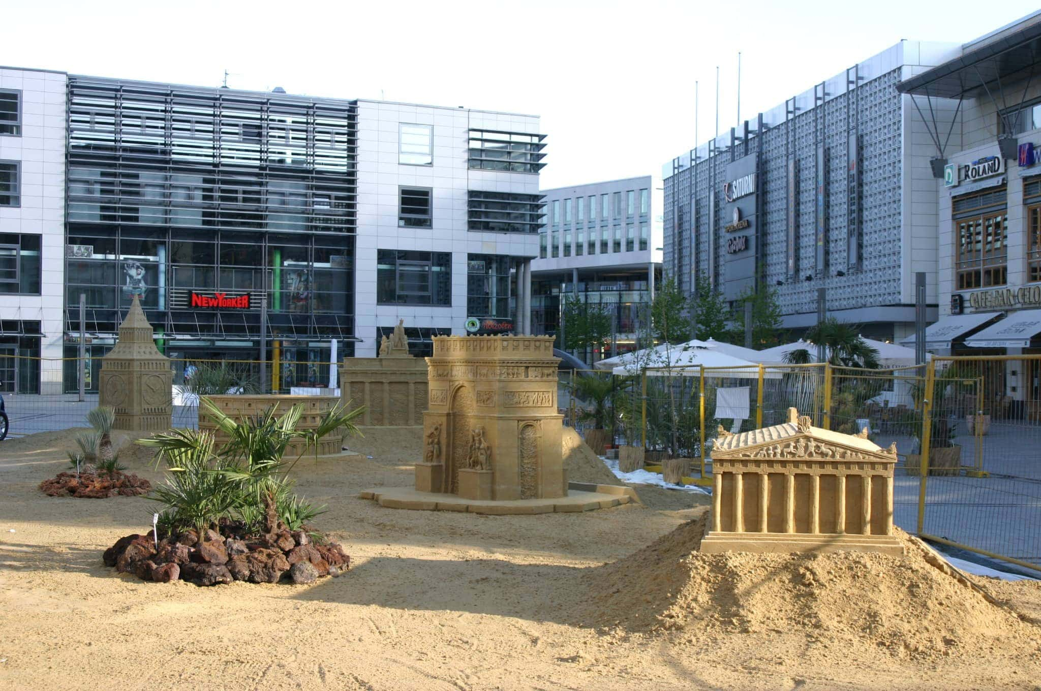 Sand sculptures in City marketing