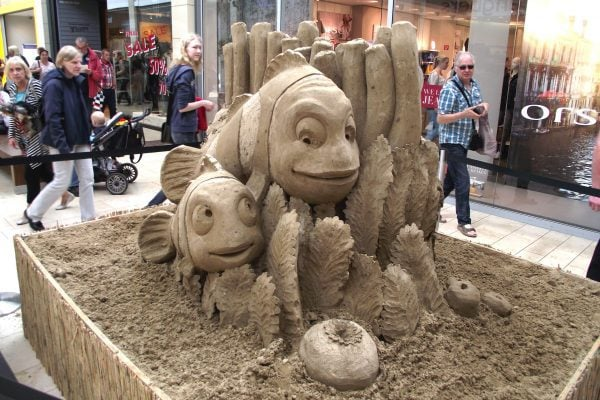 Sandskulpturen als Live-Event in Shopping-Centern oder als Highlight auf Ihrem Messestand